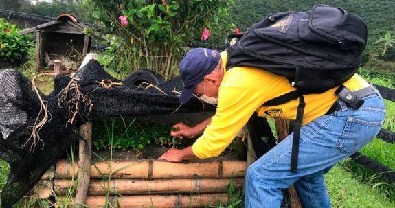Federación Nacional de Cafeteros construye germinadores comunitarios y almácigos de café en Jericó